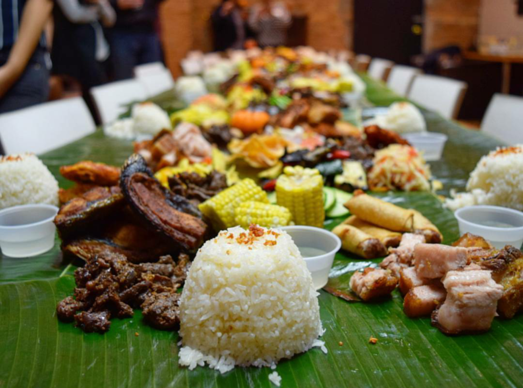 Table of Filipino Food