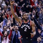 Kawhi fist in the air